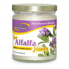 Front of Alfalfa Honey 10 oz. bottle