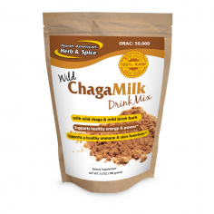 ChagaMilk powder front label
