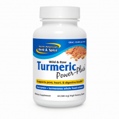 Turmeric Power Plus 60 doses front label